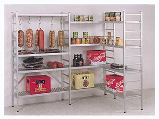 lebensmittelregal und k hlraumregale aluminiumregale vollsteckbares aluminiumregal f r den. Black Bedroom Furniture Sets. Home Design Ideas