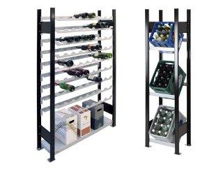lebensmittelregal und k hlraumregale getr nkekistenregale weinregale getr nkekistenregale und. Black Bedroom Furniture Sets. Home Design Ideas
