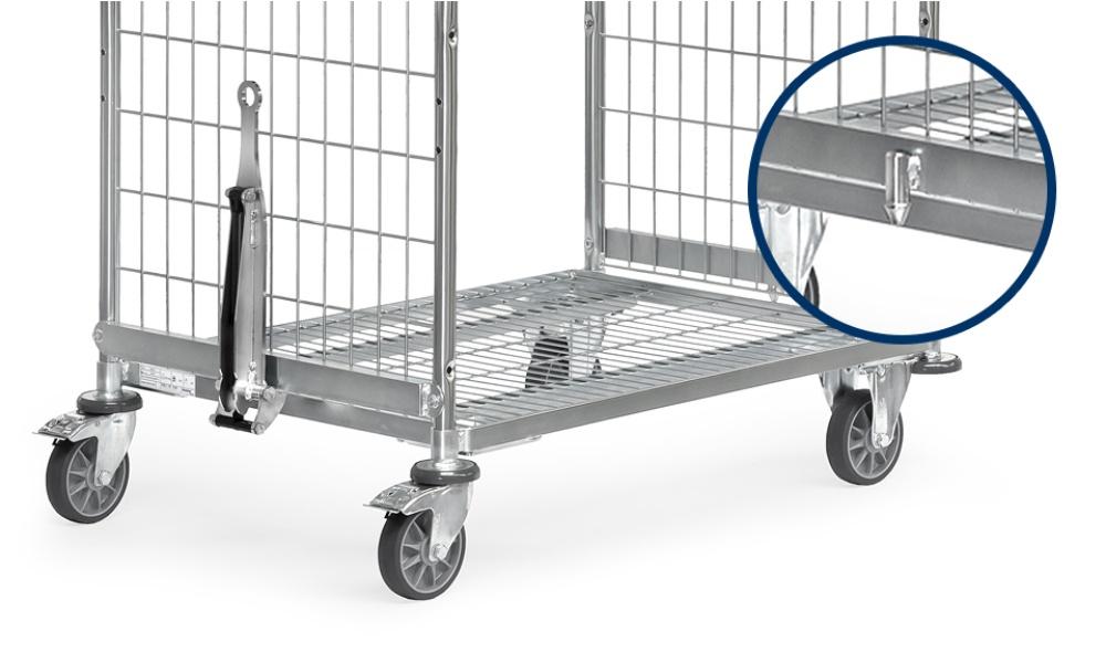 Deichsel und Kupplung für Drahtgitter-Kommissionierwagen, für ...