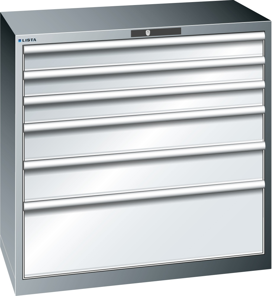 Lista Schubladenschrank, 6 Schubladen, 1000 x 1023 x 572 mm - Shop ...