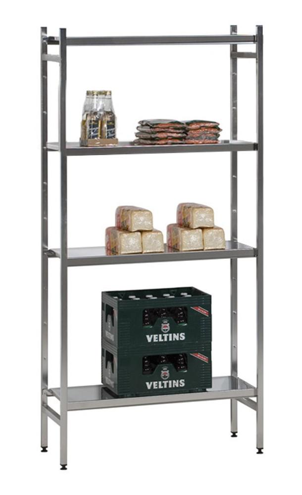 Edelstahl Regal-Kombination L1, Böden glatt, 1500 x 500 mm - Shop ...